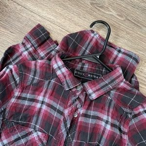 Plaid Flannel (Burgundy)
